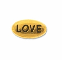 Pewter Gold Love Bead