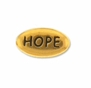 Pewter Gold Hope Bead