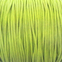 Lime Green 1.5mm Waxed Cotton Craft Cord (1YD)