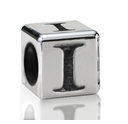Silver Finish Pewter 5.5mm Alphabet Bead Letter I
