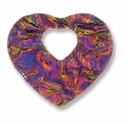 Dichroic Glass Pink 40x35mm Heart Pendant (1PC)