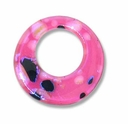 Dichroic Glass Pink 30mm Donut Pendant (1PC)