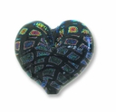 Dichroic Glass Rainbow Mosaic 23x28x8mm Heart Pendant (1PC)