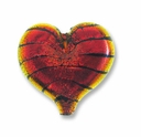 Dichroic Glass Rust 23x28x8mm Heart Pendant (1PC)