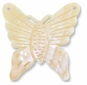 45x45mm  Mother of Pearl Butterfly Pendant