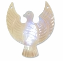 52mm Mother of Pearl Phoenix Bird Emblem Pendant (1pc)