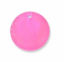 25mm Round Pink Hammer Shell Pendant