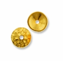 Gold Plated Hammertone 6mm Cap