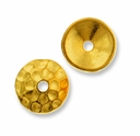 Gold Plated Hammertone 8mm Cap