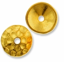 Gold Plated Hammertone 10mm Cap