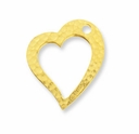 Antique Gold Hammertone Heart Ring