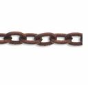 Antiqued Copper Plated Textured Cable Chain 3mm x 4mm (1ft)
