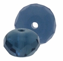 Gemstone Donut 9/6mm Montana Blue (12PK)