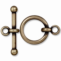 Brass Oxide 3/4 Inch Anna's Toggle Clasp