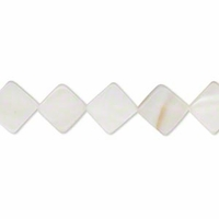 Mother of Pearl 10mm Flat Diamond 16 Inch Strand