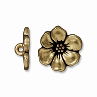 Brass Oxide Apple Blossom Button