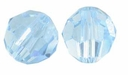 Aquamarine 8mm Swarovski 5000 Round Crystal Beads (1PC)