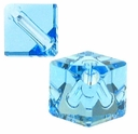 Aquamarine 5600 Swarovski Crystal 4mm Diagonal Cube Beads (10PK)