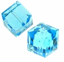 Aquamarine 5601 Swarovski 4mm Cube Bead (1PC)