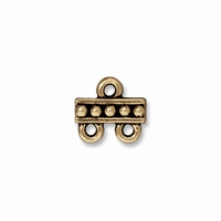 Brass Oxide Beaded 2 – 1 Link