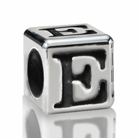 4.5mm Sterling Silver Greek Letter Beads: Epsilon