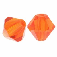Majestic Crystal® Fire Hyacinth 6mm Faceted Bicone Crystal Beads (18PK)