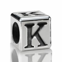 4.5mm Sterling Silver Greek Letter Beads: Kappa