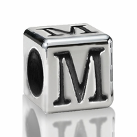 4.5mm Sterling Silver Greek Letter Beads: Mu