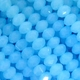 Majestic Crystal� Opaque Milky Aqua AB 3x4mm 32-Facet Crystal  Rondelle Beads (50PK)