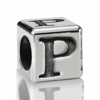 4.5mm Sterling Silver Greek Letter Beads: Rho