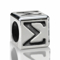 4.5mm Sterling Silver Greek Letter Beads: Sigma