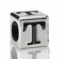4.5mm Sterling Silver Greek Letter Beads: Tau