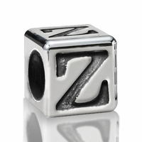 4.5mm Sterling Silver Greek Letter Beads: Zeta