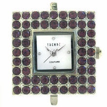 Austrian Crystal Square Amethyst Watch Face