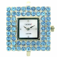 Square Lt. Sapphire Austrian Crystal Watch Face