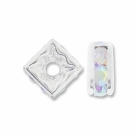 5mm Crystal AB Silver Plated Squaredelle (10PK)