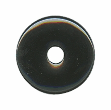 40mm Black Onyx Gemstone Donut (1pc)