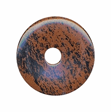 40mm Mahogany Obsidian Gemstone Donut (1pc)