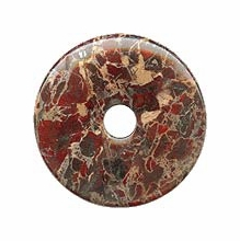 40mm Poppy Jasper Gemstone Donut (1pc)