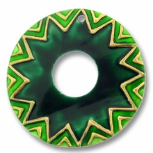 45mm Green Donut Shell Pendant