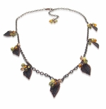 Autumn Leaves & Swarovski Necklace Idea