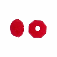 Majestic Crystal® Opaque Red 3x4mm 32-Facet Crystal  Rondelle Beads (50PK)