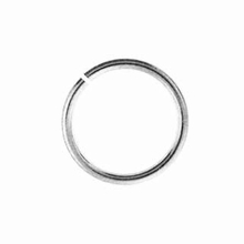 4mm Silver Plated Brass Jump Ring 20ga (10 PK)
