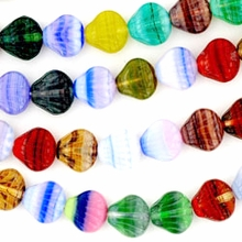 Czech Hurricane Glass Sea Shell 9mm Mix (25PK)