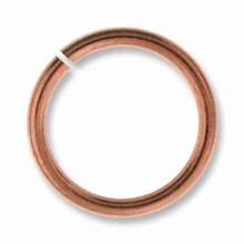8mm Copper Plated Brass Jump Ring 18ga (10 PK)