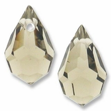 Czech 6 x 10mm Tear Drop Black Diamond Beads (1PR)