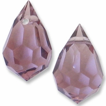 Czech 6 x 10mm Tear Drop Lt. Amethyst Beads (1PR)
