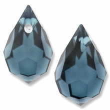 Czech 6 x 10mm Tear Drop Montana Beads (1PR)