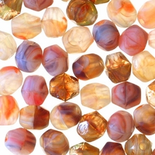 4mm Southwest Desert Mix Czech Fire Polished Round Glass Beads (50PK)