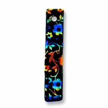 Dichroic Glass 32x6mm Rectangle Flower Charm (1PC)